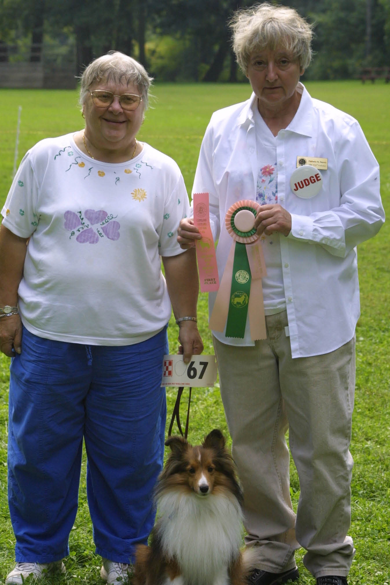 Dodi Remen, Rory Reddog, and our Judge, Delores Norsic